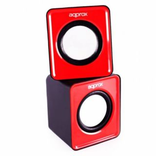 Product image of APPROX APPSPX1R Approx (APPSPX1R) 2.0 Mini Stereo Speakers 5W RMS Red Retail