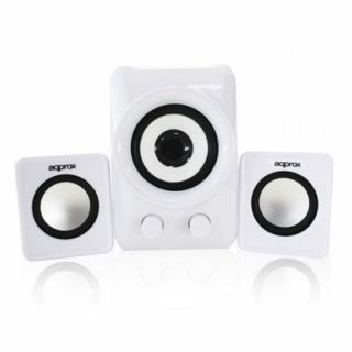 Product image of Approx (APPSP21MW) 2.1 Multimedia Mini Speakers 10W RMS White Retail