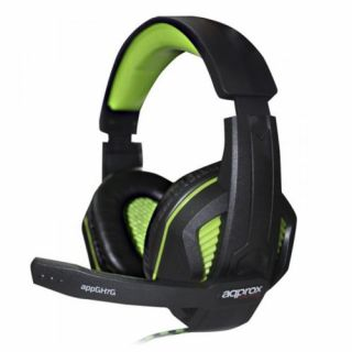Product image of Approx (GH7G) Gaming Headset Boom Mic 40mm Drivers Inline Controls 3.5mm Jack Green Retail