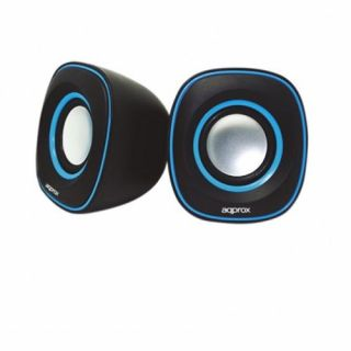 Product image of Approx (APPSPX2BL) 2.0 Stereo Speakers 6W RMS Black Retail