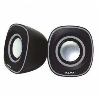 Product image of Approx (APPSPA01) 2.0 Stereo Speakers 6W RMS Black Retail