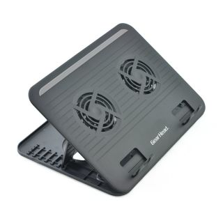 Product image of Gear Head Dual-Cool Notebook Cooling Stand (Black) for up to 17 inch Notebooks