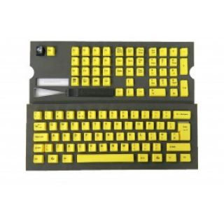 Product image of Ducky Channel Keycap Set PBT Yellow with Black Dye Sublimated Print