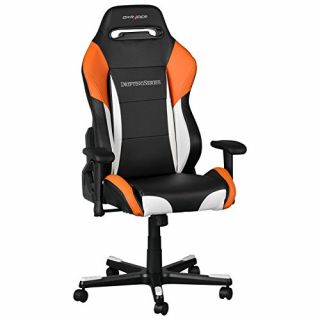 Product image of DXRacer OH/DF61/NWO DXRacer OH/DF61/NWO Drifting Series Gaming Chair - Black/White/Orange