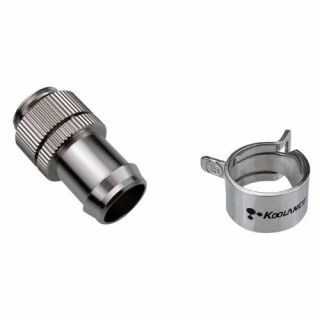 Product image of Koolance NZL-V13BS Koolance Nozzle Single Swivel/Lock Barb for ID 13mm (1/2in)