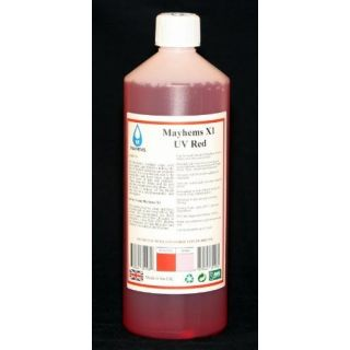 Product image of Mayhems 0609224351082 Mayhems X1 UV Red Premixed Watercooling Fluid 1L
