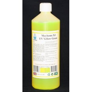 Product image of Mayhems 0609224351068 Mayhems X1 UV Yellow/Green Premixed Watercooling Fluid 1L