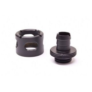 Product image of Monsoon 13/10mm (ID 3/8 OD 1/2) Free Center Compression Fitting - Matte Black