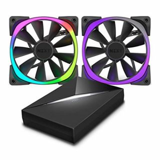 Product image of NZXT Aer RGB140 Dual 140m Fan + HUE controller