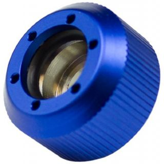 Product image of PrimoChill F-RCSKBL3812 PrimoChill Revolver Compression Fitting Acrylic Tube 13/10mm grooves - Blue