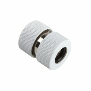 Product image of PrimoChill F-RCCKW3812 PrimoChill Ghost Coupling for Acrylic Tubes 13/10mm - White