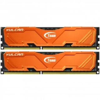 Product image of Team Group TLAED38G2133HC11ADC01 TeamGroup Vulcan ORANGE 8GB (2x4GB) DDR3 PC3-17100C11 2133MHz Dual Channel Kit (TLAED38G2133HC11ADC01)
