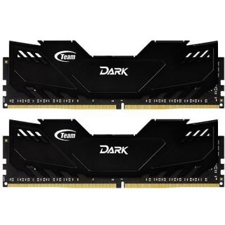 Product image of Team Group Dark 16GB (2x8GB) DDR4 PC4-24000C16 3000MHz Dual Channel Kit - Black (TDKED416G3000HC16ADC01)