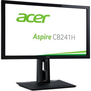 Product image of Acer CB241HYbmdpr60cm (23.8'') Wide, 16:9 ZeroFrame FHD IPS LED 4ms 100M:1 ACM 250nits DVI DP MM Height adj. Pivot EURO/UK EMEA TCO6.0 Black Acer EcoDisplay