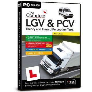 Product image of Focus Multimedia The Complete LGV + PCV Theory and Hazard Perception Tests 2015 Edition for PC (DVD-ROM)