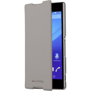 Product image of Roxfit Ultra Slim Book Case (Silver with Clear Back) for Sony Xperia Z5 Premium Smartphone