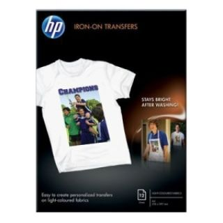 Product image of HP Iron-on T-Shirt Transfers 170g/m2 A4 (Pack of 12)
