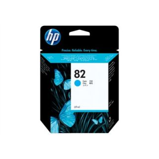 Product image of HP 82 Cyan Ink Cartridge (69ml) for the DesignJet 800, 800PS, 500 and 500PS