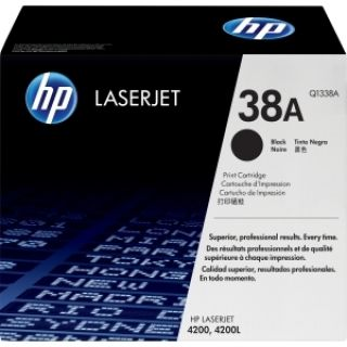 Product image of HP 38A Black Smart Print Cartridge (Yield 12,000 Pages) for HP LaserJet 4200 printer series