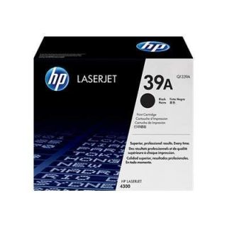 Product image of HP 39A Black Smart Print Cartridge (Yield 18,000 Pages) for HP LaserJet 4300 Printers