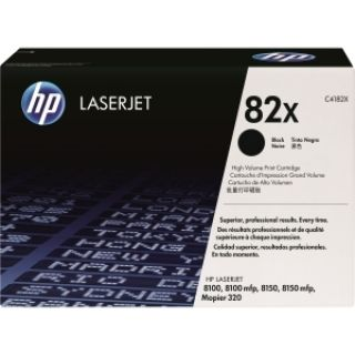 Product image of HP 82X Black Ultraprecise Toner Cartridge (Yield 20,000 Pages) for LaserJet 8100, 8100mfp, 8150, 8150mfp, Mopier 320