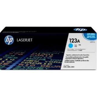 Product image of HP 123A Cyan Print Cartridge (Yield 2,000 Pages) for Colour LaserJet 2550