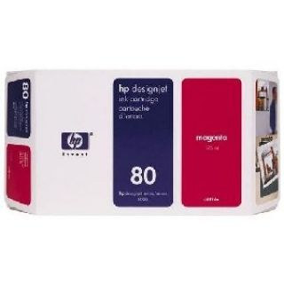 Product image of HP 80 Ink Cartridge Magenta 350ml for DesignJet 1050C*
