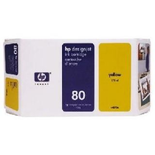 Product image of HP 80 Ink System Yellow 350ml for DesignJet 1050C & 1055CM