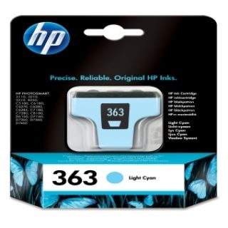Product image of HP 363 Inkjet Cartridge Page Life 350pp 4ml Light Cyan Ref C8774EE-ABB