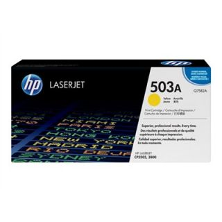 Product image of HP 503A Yellow Smart Print Cartridge (Yield 6000 Pages) with ColorSphere Toner