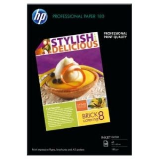 Product image of HP Superior Inkjet Paper 180 (Glossy) 180gsm (A3) 1 x Pack of 50 Sheets