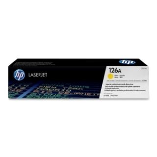 Product image of HP 126A Yellow ColorSphere Print Cartridge (Yield 1000 Pages) for LaserJet Pro CP1025, CP1025nw