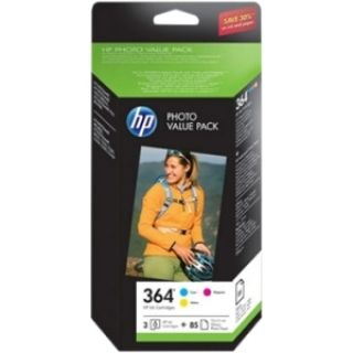 Product image of HP 364 Series Photo Value Pack (Includes: 364 Series Tri Colour Ink + 85 Sheets of 10 x 15cm Photo Paper