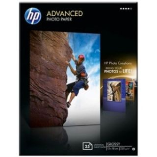 Product image of HP Advanced (13x18cm) 250g/m2 Glossy Photo Paper Borderless (White) Pack of 25 Sheets