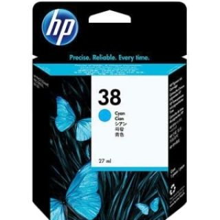 Product image of HP 38 Cyan Pigment Ink Cartridge with Vivera Ink