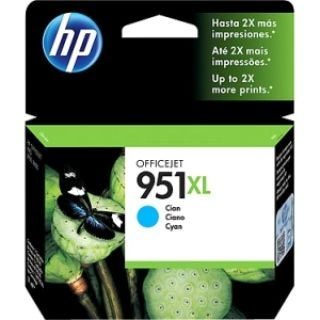 Product image of HP 951XL (Yield 1500 Pages) Cyan Ink Cartridge for HP Officejet Pro 8100 ePrinter Series/HP Officejet Pro 8600 e-All-in-One Series