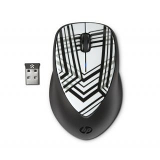 Product image of HP x4000 Wireless Mouse with Laser Sensor (Zebra Fade)