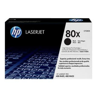 Product image of HP 80X (Yield 6,900 Pages) Black Dual Pack Smart Print Cartridges for HP LaserJet Pro 400 M401, 400 M425