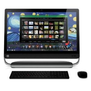 Product image of Hewlett Packard HP Omni 27-1110ea - All-in-one - 1 x Core i3 2120 / 3.3 GHz - RAM 4 GB - HDD 1 x 1 TB - DVD SuperMulti - HD Graphics 2000 - Gigabit LAN - WLAN : Bluetooth, 802.11b/g/n - Windows 7 Home Premium 64-bit - Monitor : LED 27
