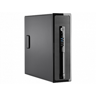 Product image of HP ProDesk 400 G1 Small Form Factor PC Pentium (G3220) 3.4GHz 4GB 1TB DVD Writer (SM) LAN W7 Pro 64-bit+Media Upgrade to W8.1 Pro (HD Graphics)