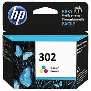 Product image of HP 302 (Yield 165 Pages) Tri-color Original Ink Cartridge (Blister Pack) for OfficeJet 3830 All-in-One Printer