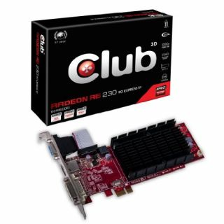 Product image of Club 3D Radeon R5 230 PCI EXPRESS X1 Graphics Card 1GB GDDR5 PCI-E DVI HDMI VGA (Low Profile)