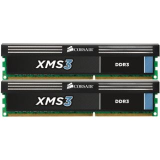 Product image of Corsair XMS3 8GB (2 x 4GB) Memory Kit PC3-10600 1333MHz DDR3 DIMM 240pin 9-9-9-24