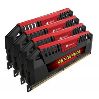 Product image of Corsair Vengeance Pro 32GB (4 x 8GB) Memory Kit PC3-12800 1600MHz DDR3 DRAM Unbuffered (Red)