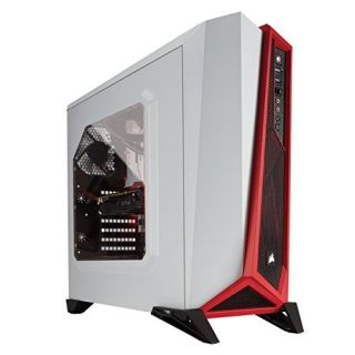 Product image of Corsair Carbide SPEC ALPHA Series Red LED Mid-Tower Gaming Case (White/Red)