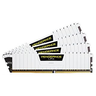 Product image of Corsair Vengeance LPX 32GB (4 x 8GB) Memory Kit PC4-21300 2666MHz DDR4 DIMM C16 (White)