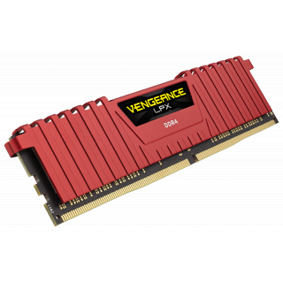 Product image of Corsair Vengeance LPX 32GB (4 x 8GB) Memory Kit PC4-25600 3200MHz DDR4 DIMM C14 (Red)