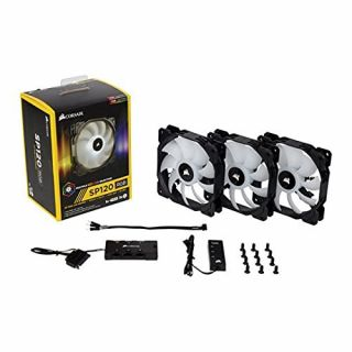 Product image of Corsair SP120 RGB LED High Performance 120mm PWM Fan (Pack of 3) with Controller