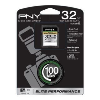 Product image of PNY 32GB Elite Performance SDHC Card Class 10 UHS-1