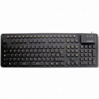 Product image of OEM - Accuratus WP127 Combo (USB/PS2) Silicone Multimedia Keyboard with Hivis Key Legends (Black)